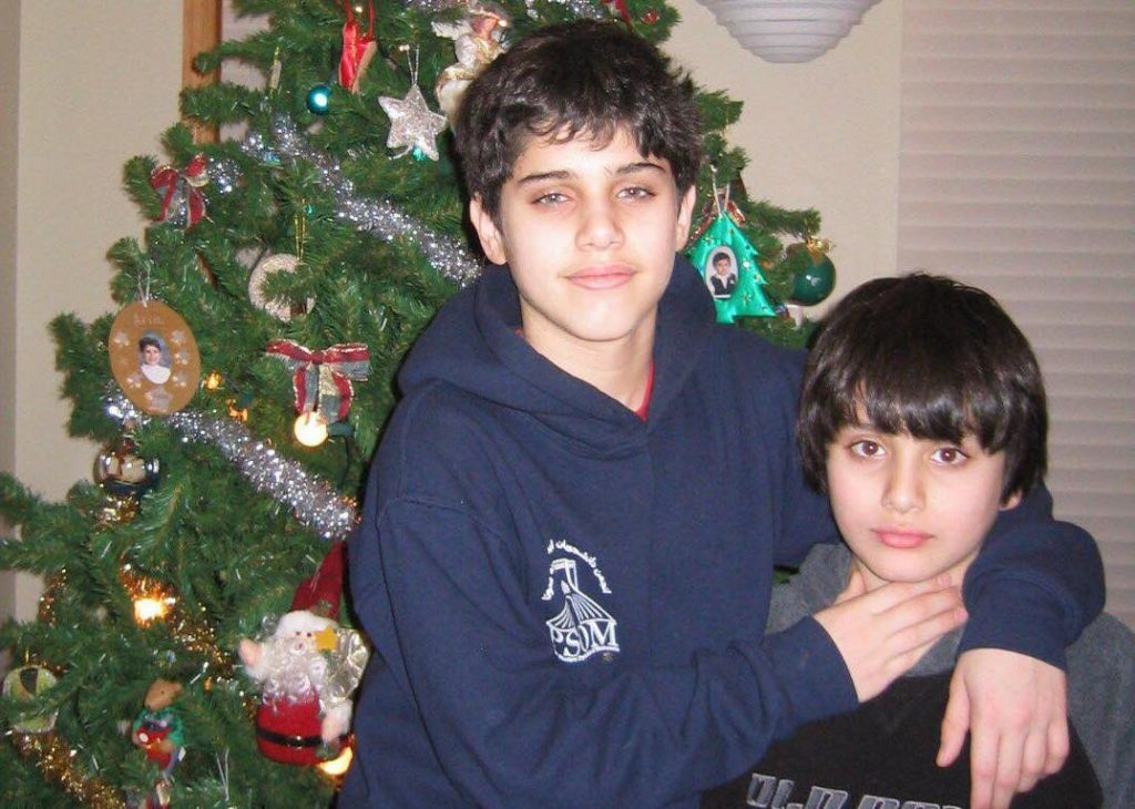 Ari Shahghasemi and his younger brother.