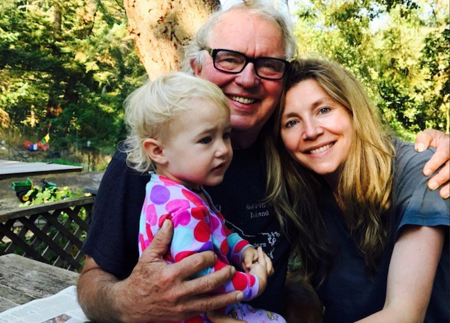 Sarah Chalke with father and daughter Frances Afifi