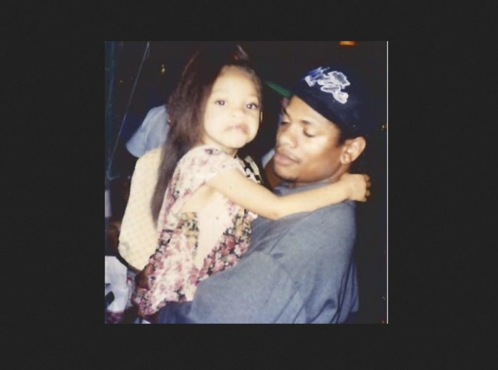 Erin Bria Wright with dad Eazy-E