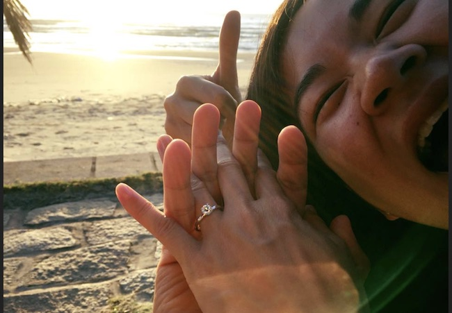 Ronny Chieng and Hannah Pham engagement picture