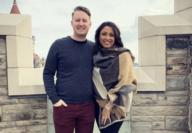 Alex Stokes with her boyfriend Ted Babcock