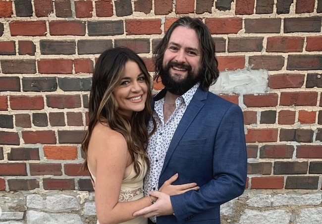 Clay Cook with his wife Brooke Harding