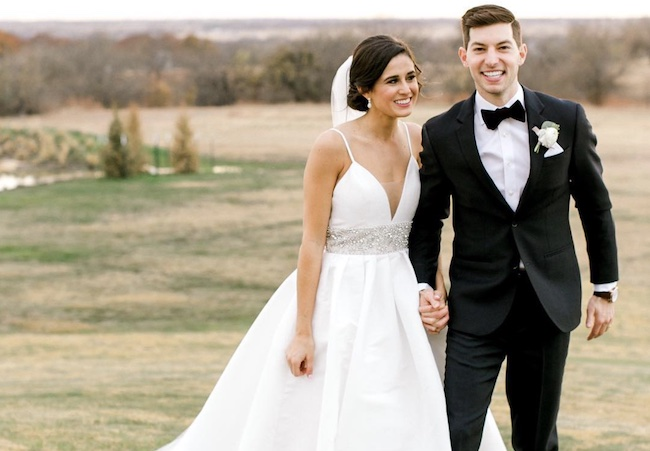 Coby Cotton and his wife Aubrey Ellet wedding picture