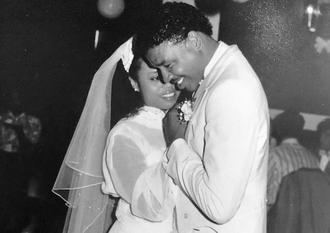 Dorien Wilson and ex-wife JoAnne Wilson on their wedding day