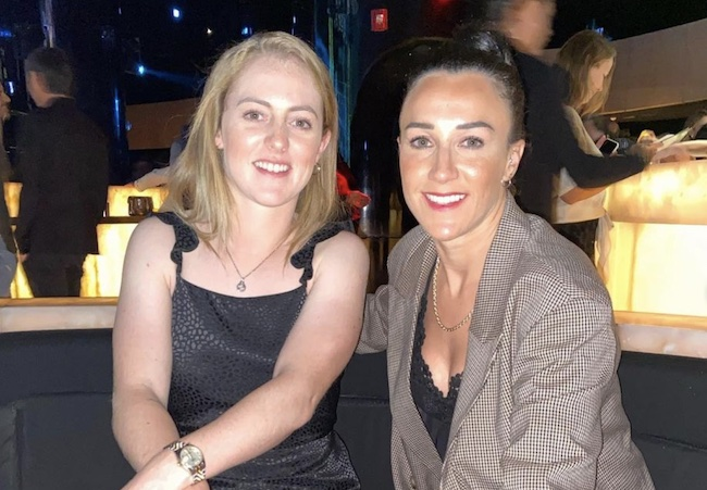 Lucy Bronze and Keira Walsh celebrating new years in Dubai