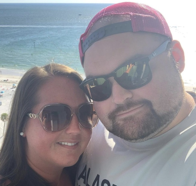 Gary Shirley with his wife Kristina Anderson