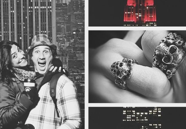 Krystle Amina and Wil Willis engagement ring
