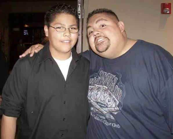 Gabriel Iglesias with his son Frankie