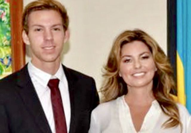 Eja with his mother Shania Twain